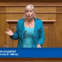 Ελένη Αυλωνίτου, ομιλία στη Βουλή στις 2/8/2017